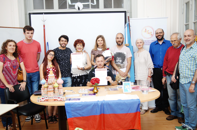 Alumnos de la Cátedra de Rusia del IRI - UNLP