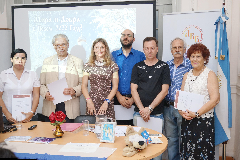 Grupo de alumnos de la Cátedra de Rusia en el Cierrre del Año Lectivo 2019